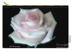 Soft Pink Rose Bud Carry-all Pouch