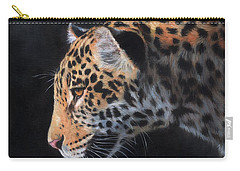 Carry-all Pouch featuring the painting South American Jaguar by David Stribbling