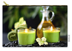 Spa Rocks And Candles Carry-all Pouch