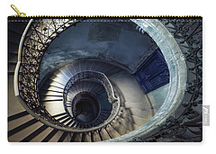 Spiral Staircase With Ornamented Handrail Carry-all Pouch by Jaroslaw Blaminsky