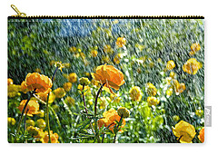 Spring Flowers In The Rain Carry-all Pouch