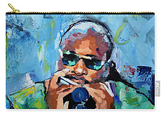 Carry-all Pouch featuring the painting Stevie Wonder by Richard Day