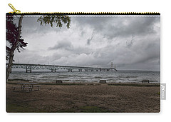 Carry-all Pouch featuring the photograph Straits Of Mackinac by John M Bailey