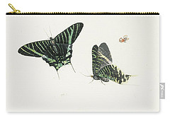Studies Of Two Butterflies Carry-all Pouch by Anton Henstenburgh