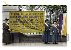 Carry-all Pouch featuring the photograph Suffragettes, 1917 by Granger