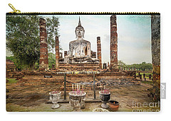 Carry-all Pouch featuring the photograph Sukhothai Buddha by Adrian Evans
