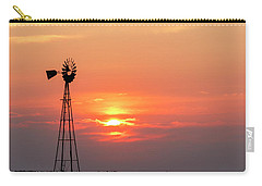 Sunrise And Windmill 01 Carry-all Pouch