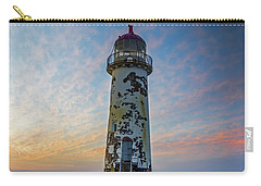 Sunset At The Lighthouse Carry-all Pouch by Ian Mitchell