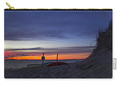 Carry-all Pouch featuring the photograph Sunset On The Bay by Michael Friedman