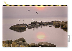 Carry-all Pouch featuring the photograph Sunset by Vladimir Kholostykh