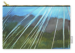 Carry-all Pouch featuring the mixed media Sunshine Over Boise by Angela Stout