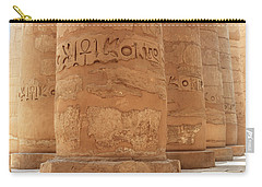 Carry-all Pouch featuring the photograph Temple Of Karnak by Silvia Bruno