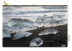 The Diamond Beach, Jokulsarlon, Iceland Carry-all Pouch