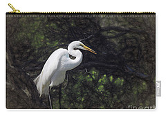 The Great White Egret Carry-all Pouch by Scott Cameron