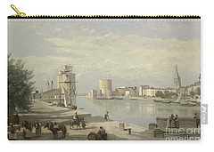 The Harbor Of La Rochelle Carry-all Pouch by Jean Baptiste Camille Corot