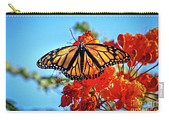 Carry-all Pouch featuring the photograph The Resting Monarch by Robert Bales