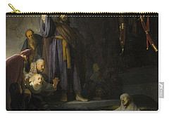 The Raising Of Lazarus Carry-all Pouch by Rembrandt