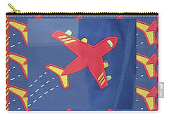 Carry-all Pouch featuring the digital art Theme Aviation Aeroplanes Aircraft Travel Holidays Christmas Birthday Festival Gifts Tshirts Pillows by Navin Joshi