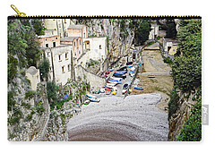 This Is A View Of Furore A Small Village Located On The Amalfi Coast In Italy  Carry-all Pouch