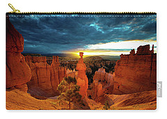 Carry-all Pouch featuring the photograph Thor's Hammer by Norman Hall