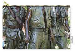 Three Soldiers Carry-all Pouch by David Bearden