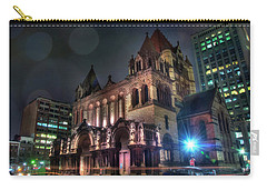 Carry-all Pouch featuring the photograph Trinity Church - Copley Square Boston by Joann Vitali