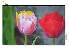 Carry-all Pouch featuring the digital art Tulips by Cristina Stefan