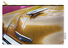 Carry-all Pouch featuring the photograph Vintage Chevy Hood Ornament Havana Cuba by Charles Harden