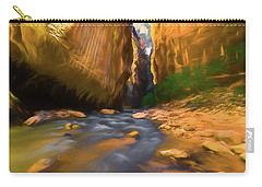 Virgin River - Zion National Park Watercolor Carry-all Pouch
