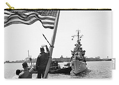 Carry-all Pouch featuring the photograph Wasp Hobson Collision, 1952 by Granger