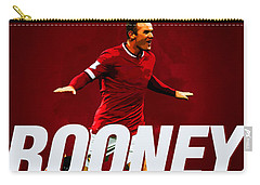 Wayne Rooney Carry-all Pouch by Semih Yurdabak