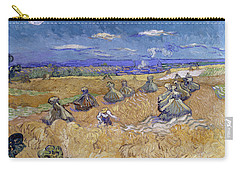 Wheat Fields With Reaper, Auvers Carry-all Pouch