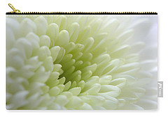 White Chrysanthemum Carry-all Pouch