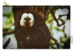Carry-all Pouch featuring the photograph White Saki by The 3 Cats