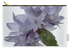 White With Blue Cornflower Carry-all Pouch