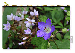 Wild Geranium Carry-all Pouch by Tim Good