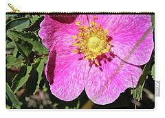 Carry-all Pouch featuring the photograph Wild Rose by Ann E Robson