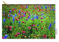 Carry-all Pouch featuring the photograph Wildflowers In Bloom by D Davila