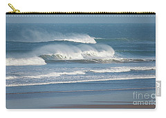 Windy Seas In Cornwall Carry-all Pouch