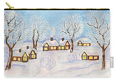 Winter Landscape, Painting Carry-all Pouch