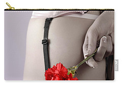 Woman With A Carnation Carry-all Pouch