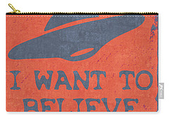 X Files I Want To Believe Carry-all Pouch