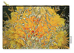 Yellow Dahlia Carry-all Pouch by Elvira Ladocki