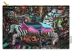 Carry-all Pouch featuring the photograph Zebra Carousel by Michael Arend