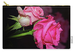 Two Roses Carry-all Pouch by Elvira Ladocki