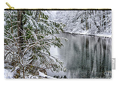 Carry-all Pouch featuring the photograph Winter Along Cranberry River by Thomas R Fletcher