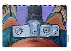 Carry-all Pouch featuring the painting 200 Zoom by Gary Coleman