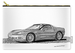 Corvette Roadster, Silver Ghost Carry-all Pouch by Jack Pumphrey