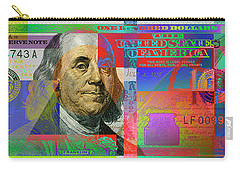 2009 Series Pop Art Colorized U. S. One Hundred Dollar Bill No. 1 Carry-all Pouch