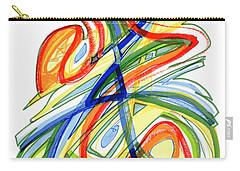 2010 Abstract Drawing Eight Carry-all Pouch by Lynne Taetzsch
